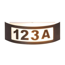 Rabalux 8748 - Innsbruck osvetlenie čísla domu E27 1x MAX 14W kovové/ umelá hmota antická zlatá